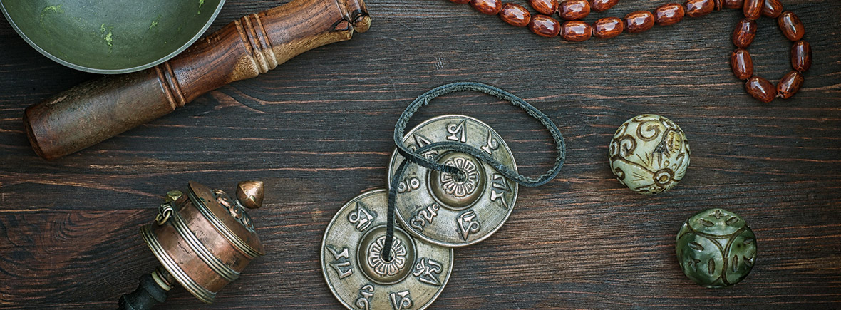 Objekte für Meditation und Entspannung